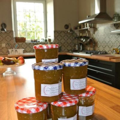 confiture tomates vertes, agrumes et gingembre